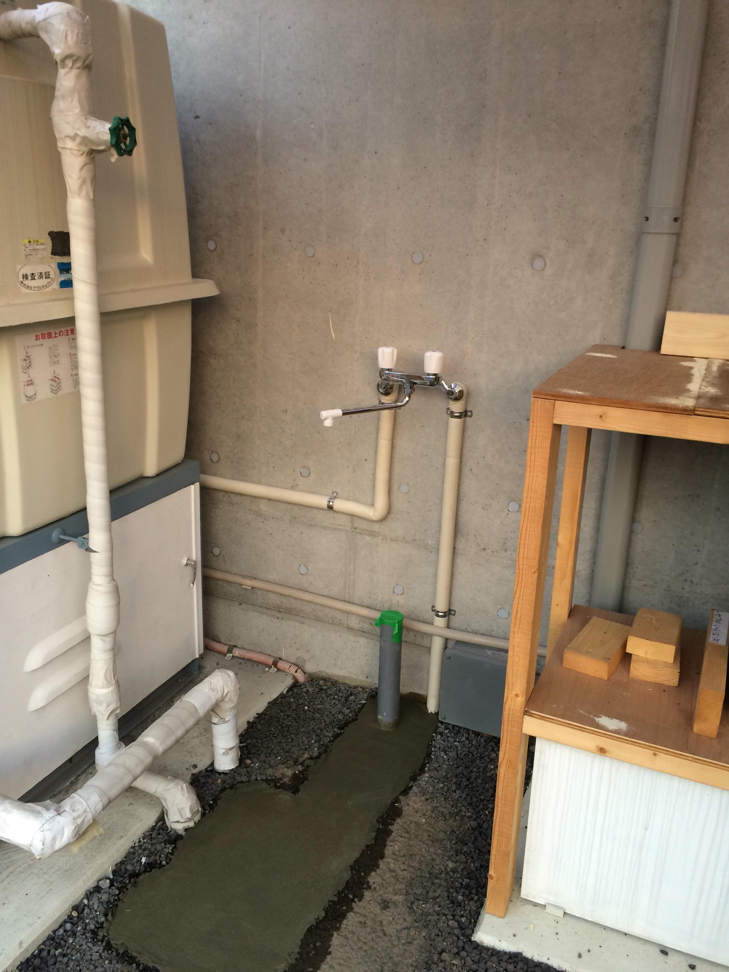 混合栓取付工事