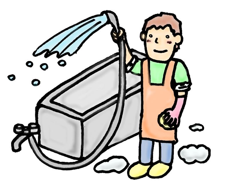 風呂掃除-素材-イラスト