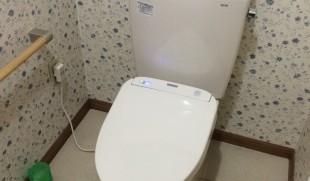 埼玉県児玉町美里I様邸TOTOピュアレストQR+アプリコットF1Aトイレ交換工事